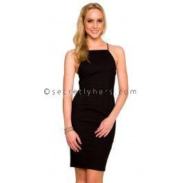 Aisha Cocktail Dress in Black