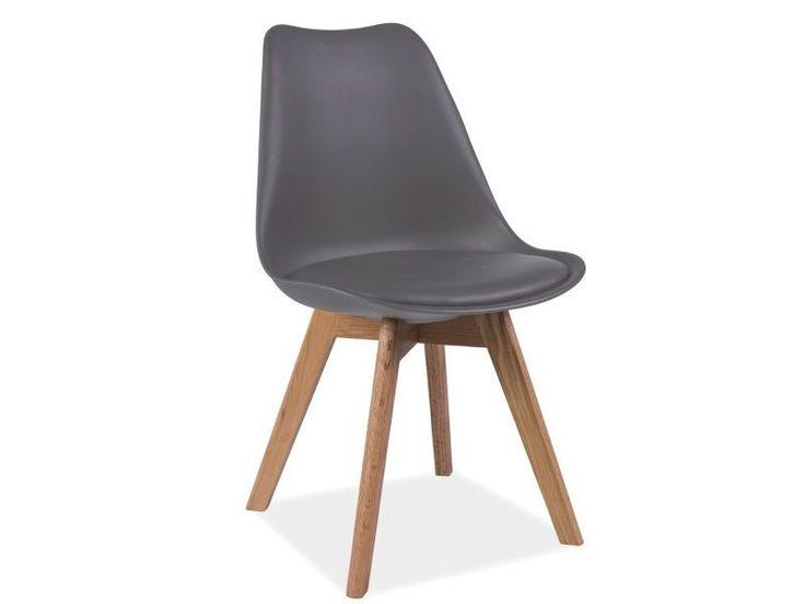 Krzesło KRIS dąb/ szary