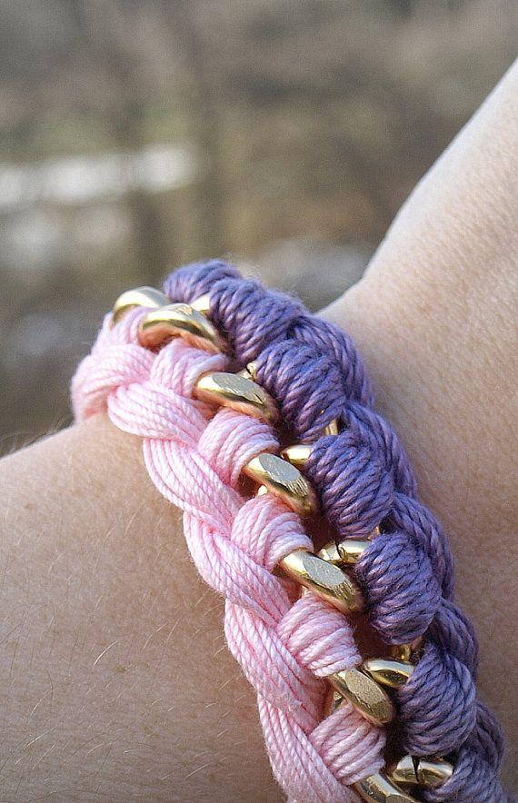 Woven Curb Chain Bracelet