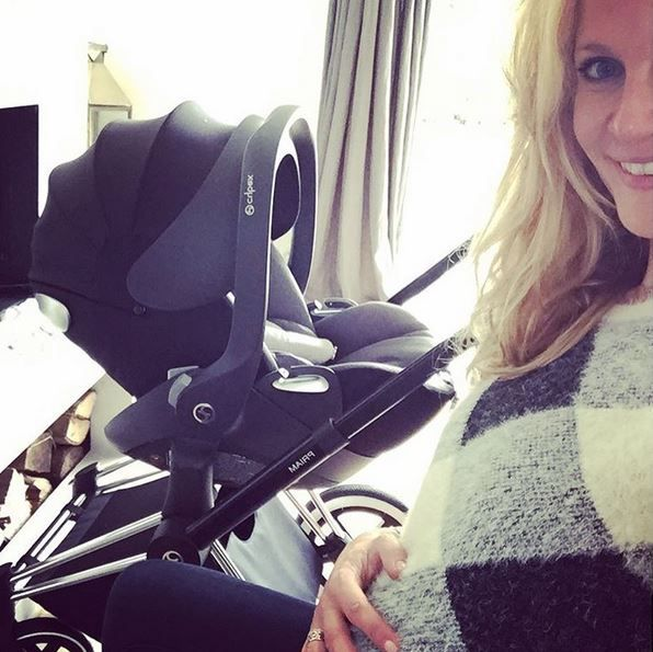 Belgium/French celebrity Sandrine Corman is ready for her new baby with the CYBEX PRIAM and Aton Q!