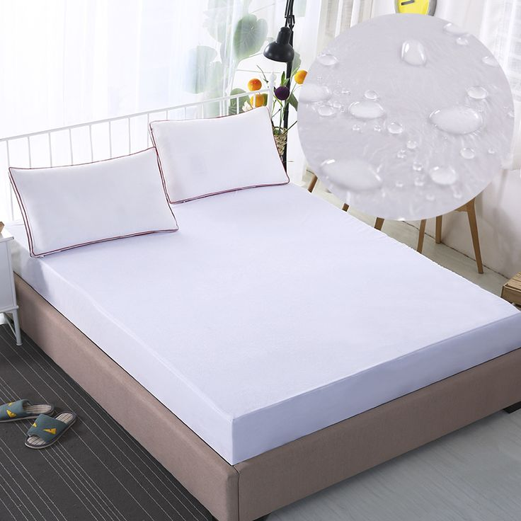 Waterproof Ed Bed Sheet White Pink Grey Bedspreads Mattress Cover Protector From