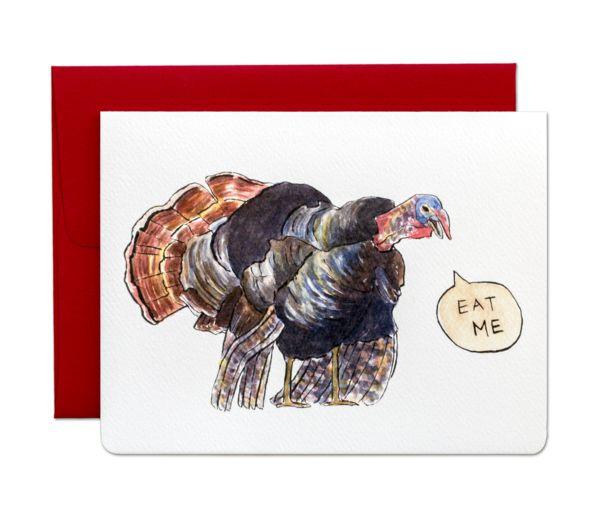 Angry Turkey Card by Gotamago