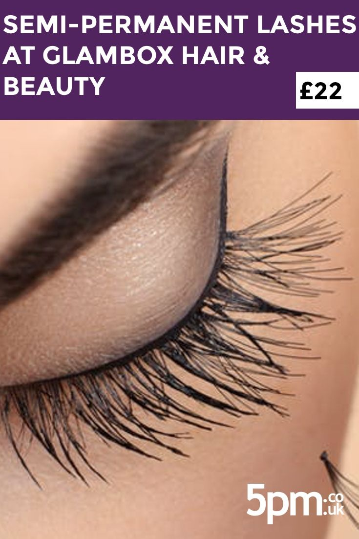 £22 for a Full Set of Semi-Permanent Lashes from GlamBox Hair & Beauty Lounge, East End.