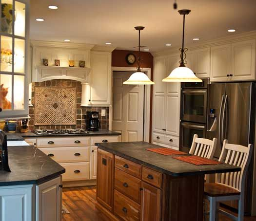 Kitchen Remodel With Island. Designed By Linda M. Petock