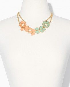 Two Toned Marquise Necklace Set