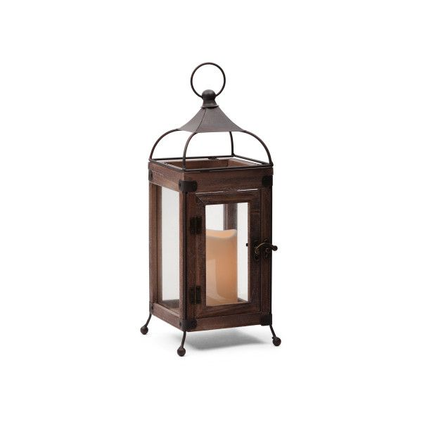Led Wood Metal Lantern - Candles & Lanterns - T.J.Maxx - 25+ Best Ideas About Battery Operated Outdoor Lights On Pinterest