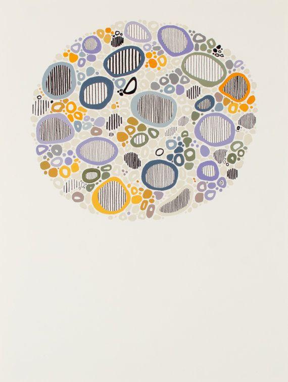 Coast // 3  Abstract Pattern Painting by EyeJoyArt on Etsy
