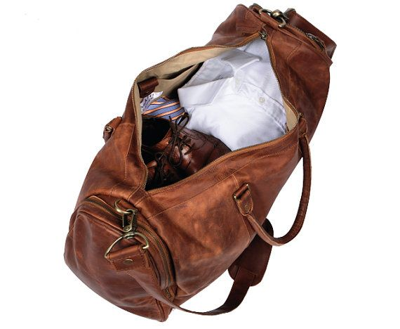 Leather Holdall/Duffle Weekend Bag Overnight Bag by MAHILeather