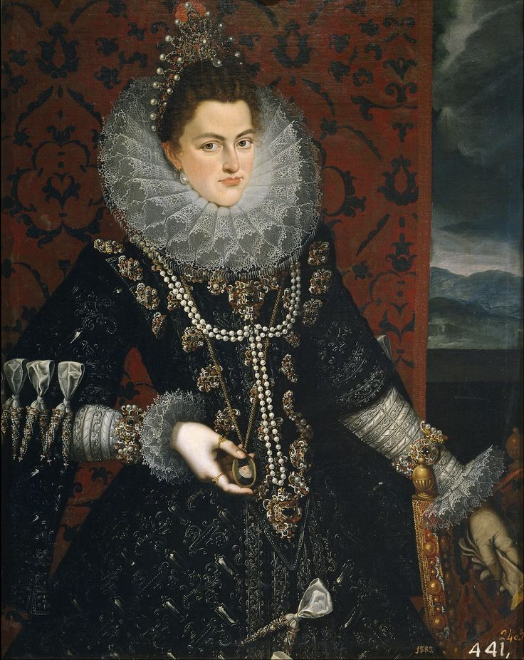 Infanta Isabel Clara Eugenia   Juan Pantoja de la Cruz  1589 - 99 <3