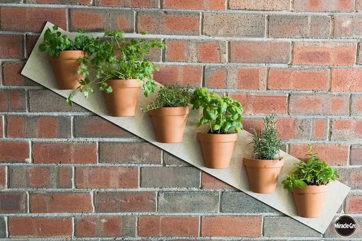 Limited space? Grow UP! Easy vertical #garden #projects using clay pots for herbs, flowers & veggies.