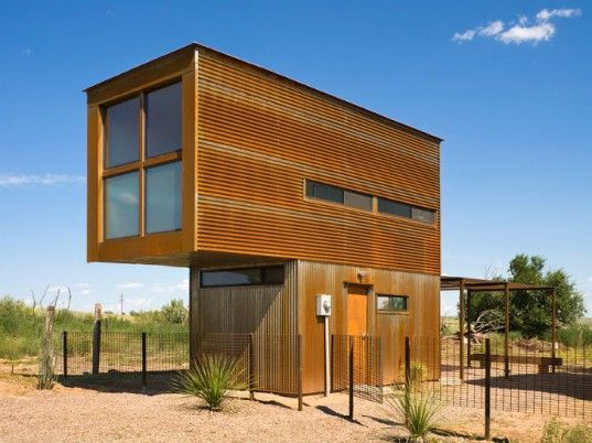 Tiny Stacked Marfa 10x10 House is a Minimalist Artistic Dwelling in Texas