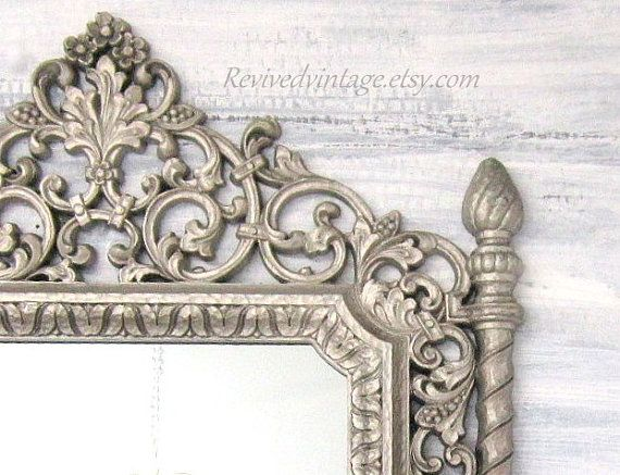 Decorative vintage mirrors for sale silver framed mirror for Bedroom wall mirrors for sale