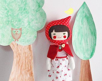 Christmas cute felt retro ornaments set of 3 Christmas by nenimav