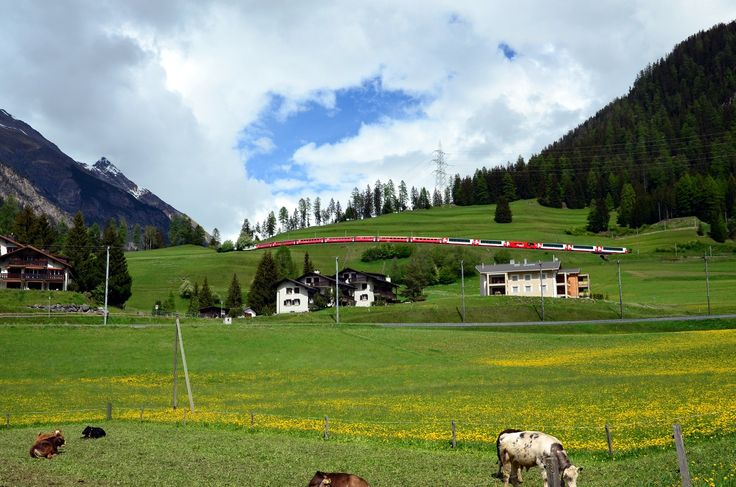 Švýcarsko vlakem - dovolená ve Švýcarsku jinak - lyžování, turistika