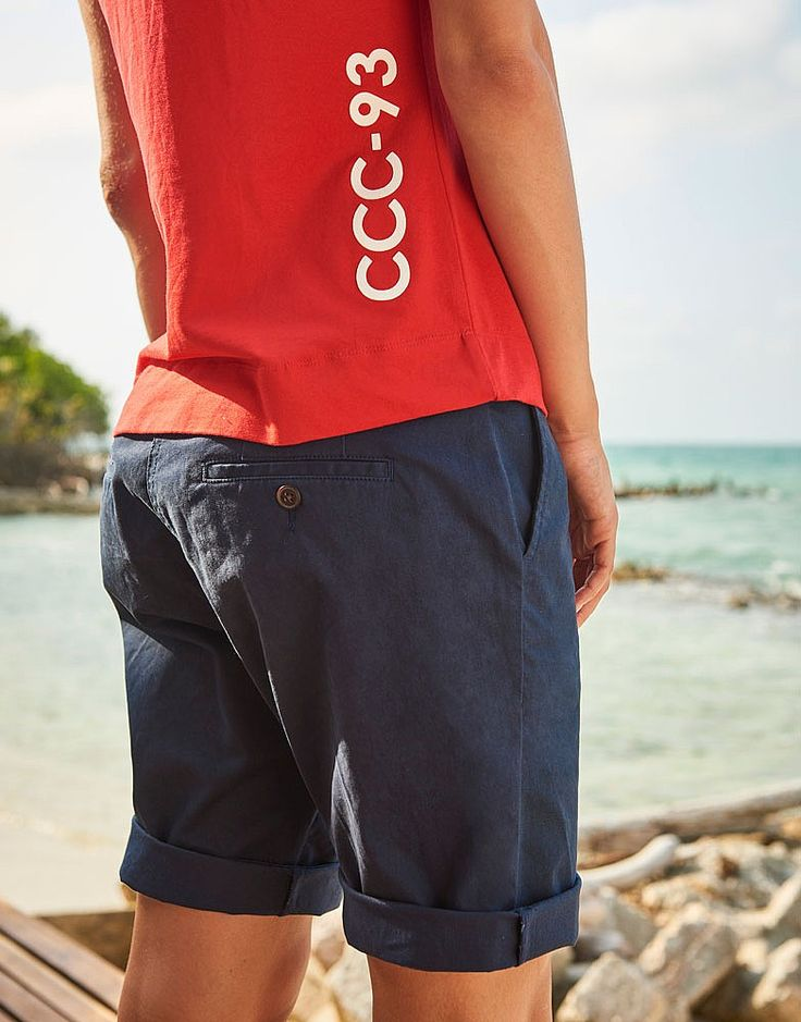 Women's Crew Club Padstow Tee in Bright Cherry Red from Crew Clothing