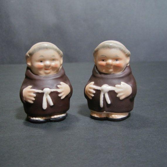 Vintage Goebel Friar Tuck Monk Salt and Pepper by SugarLMtnAntqs, $16.95