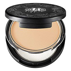 My Best Beauty Tips #10 Kat Von D - Lock-It Powder Foundation This is what is in my purse. Touchups. Great sized mirror. I can grab it without looking cuz it's a neat size, etched, & the latch to release is OBVIOUS to feel & see! Boom!