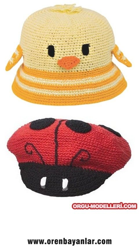 Örgü Modelleri Dantel Modelleri: Hayvan Figürlü Bebek Şapkaları