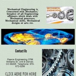"""Mechanical Engineering is Concerned with Mechanics,"""" broadest of all Engineering offshoots which deals with Mechanical processes, Mechanical skills, M"""