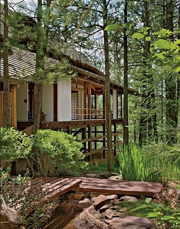 traditional japanese house design with stunning forest exterior - Japanese Home Design