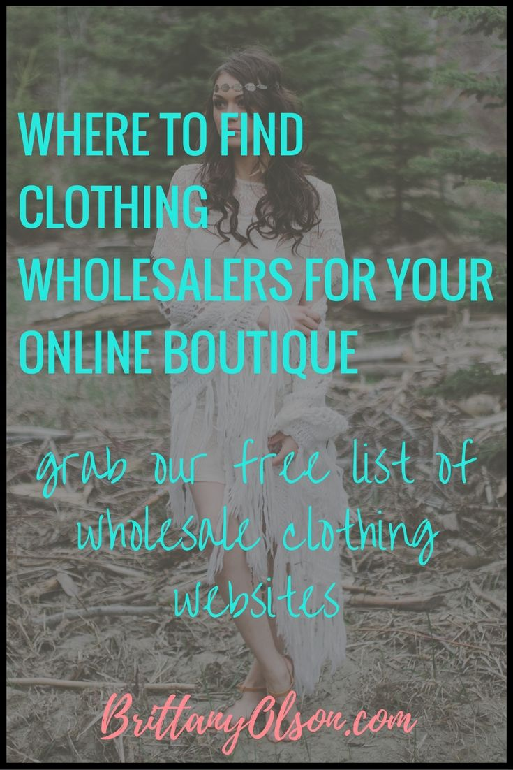 "You can make a full time income from home by selling clothing online but where do you find wholesale clothing and accessories for your online boutique? It can be difficult to find affordable clothing wholesalers because many of the ""wholesalers"" showing up in google search results are selling the same items as other wholesaler clothing suppliers but a much higher price. CLICK HERE FOR OUR WHOLESALE CLOTHING WEBSITE LIST Some wholesale clothing websites require you to send them a copy ..."