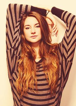 Shailene Woodley! I can't believe that she cut off all that hair