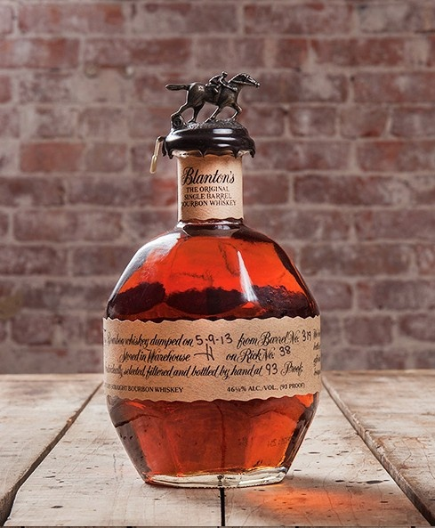 The bottle is just as amazing as the #Blanton's #Bourbon whiskey inside! Sophie's Store