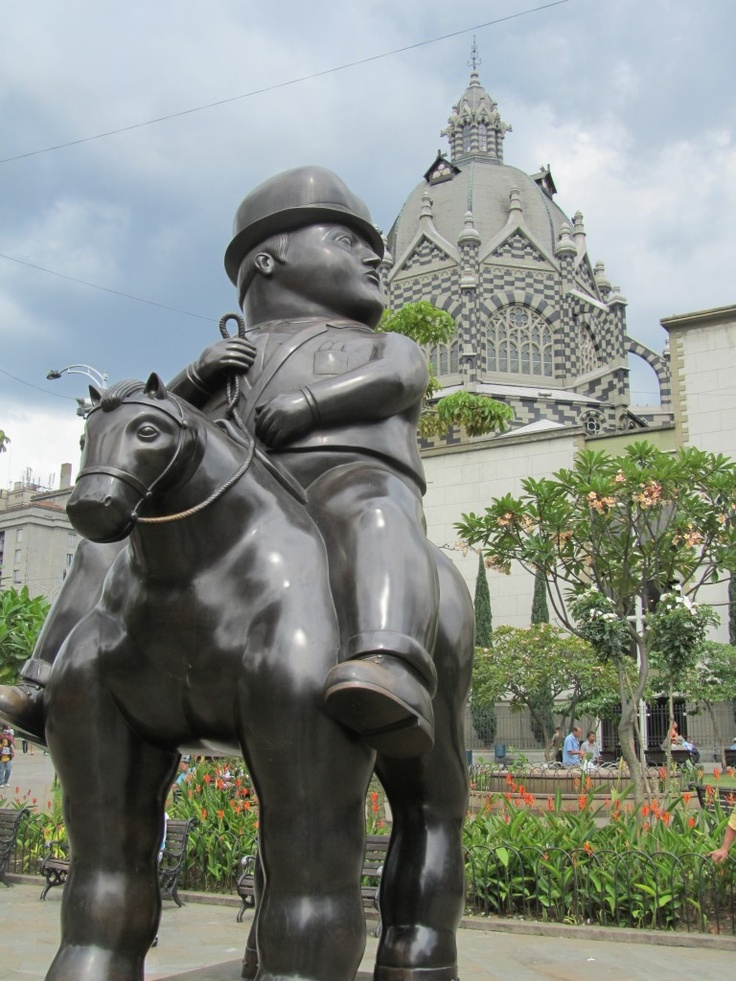 A sculpture in Plaza Botero in Centro Medellin