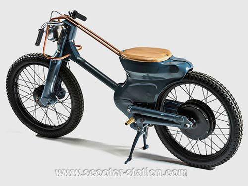 Deus Electric : Honda Cub fonctionnant avec un moteur de vélo électrique