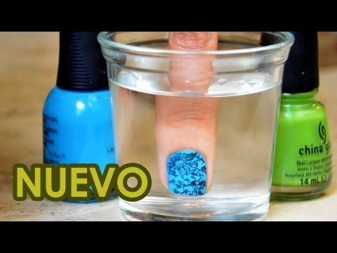Decora tus uñas con agua http://ini.es/1jXKBgu #DecorarUñasConAgua, #ManicuraDiy