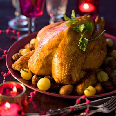 Découvrez la recette Dinde farcie aux marrons sur cuisineactuelle.fr.