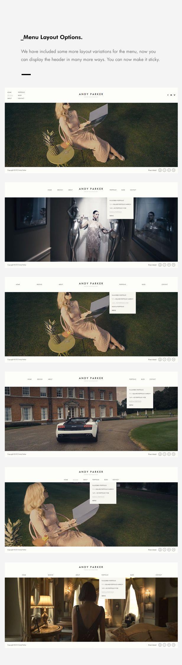 Andy Parker - Creative Photography & Portfolio WordPress Theme | ThemeForest