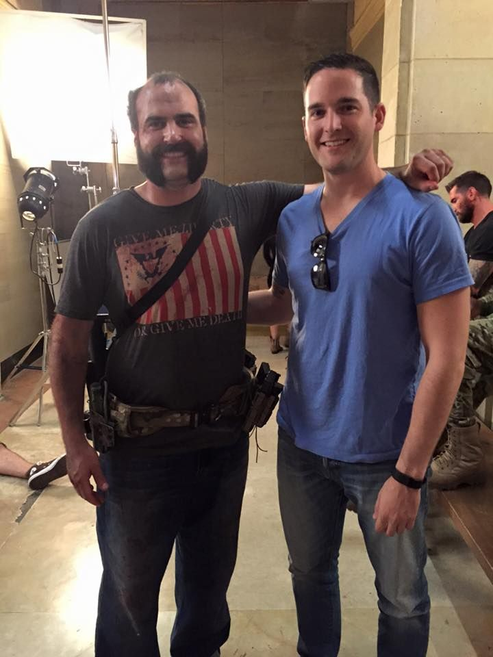 Another set visitor today! Paul of the Duffel Blog! Suzy Palmisciano - Range 15 movie
