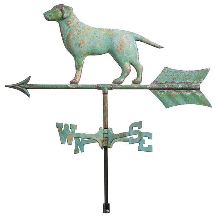 Cottage Good Directions Labrador Retriever Weathervane, Weathered Copper - 249327, Weather Vanes at Sportsman's Guide
