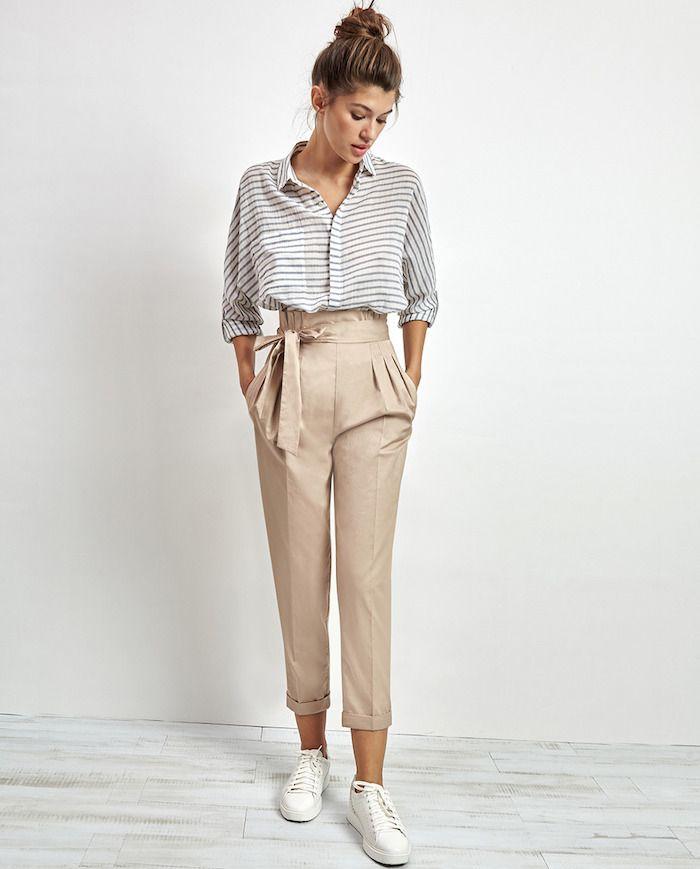 ▷ 1001 + tenues inspirantes pour savoir que mettre avec un pantalon beige