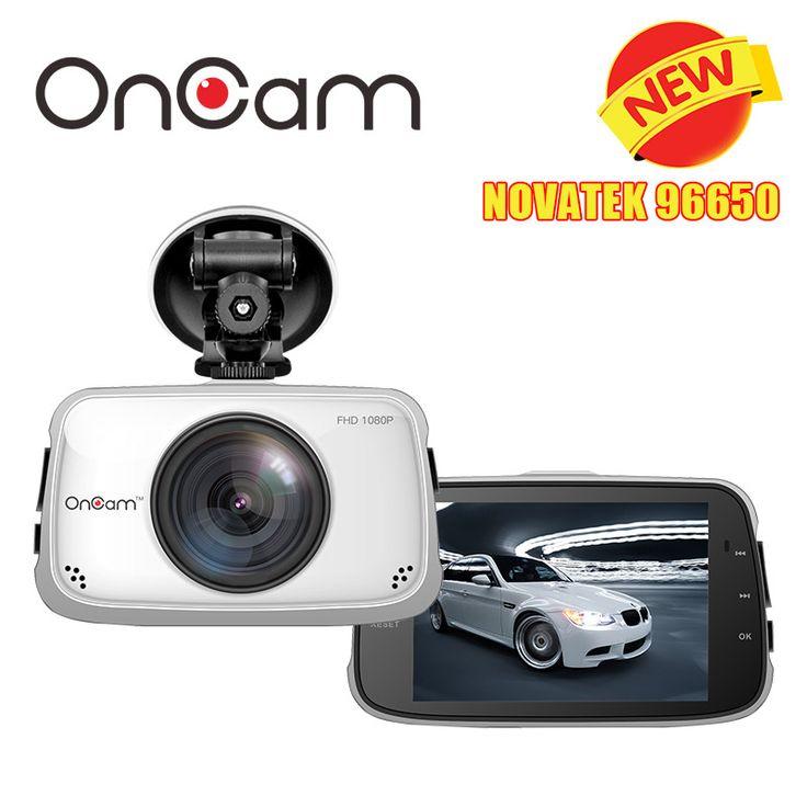 Asli novatek ntk96650 mobil dash kamera dvr kamera oncam t808 Full HD 1080 P Mobil Camcorder 3.5 Inch 170 Derajat G-sensor Dash Cam