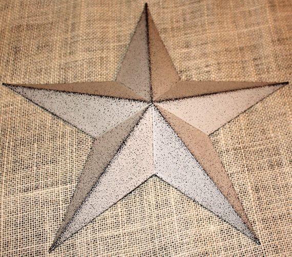 16 Large Metal Tin Barn Star  Decor by TheLittleBarnCo on Etsy