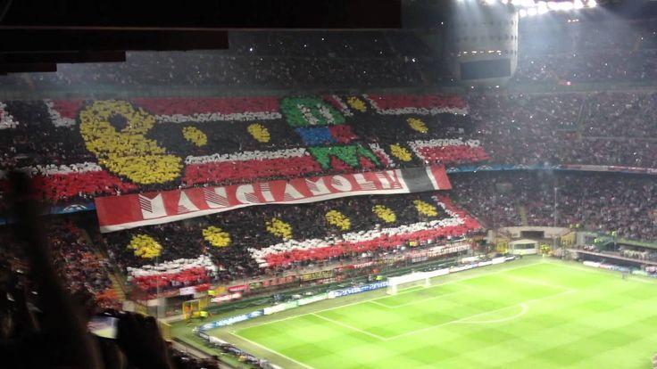 To go to the football stadium, following ac milan..