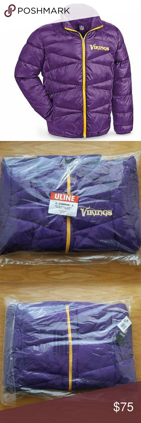NFL VIKINGS PUFFER JACKET XL This is a Vikings puffer jacket. This will  show your team spirit in a cold Minnesota Winter. Brand new in packaging. NFL Jackets & Coats Puffers