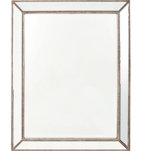 Elegance Mirror, Silver Beaded Frame