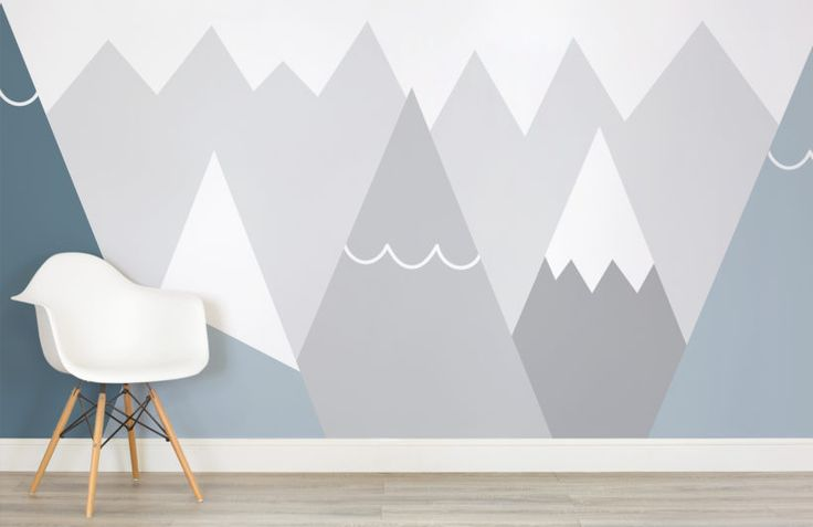 kids-blue-and-grey-mountains-nursery-room