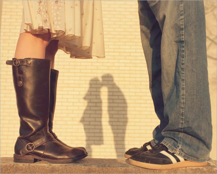 Since we are very picky about our shoes... if the couple are really into their shoes too it'd be so cute to focus on the shoes as well as their silhouette in the shadow.