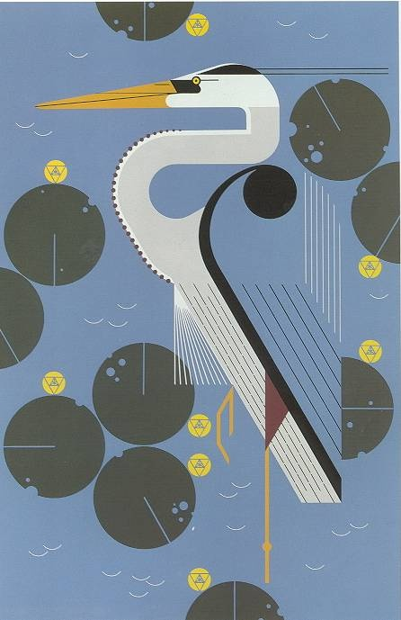Herondipity...another Charley Harper