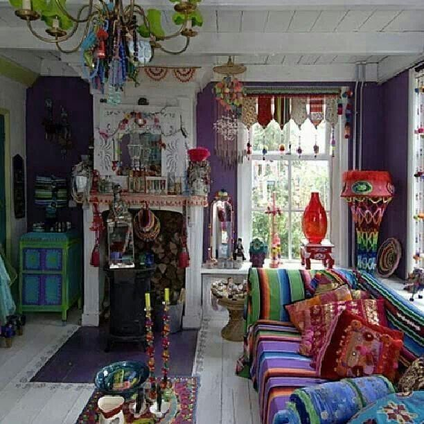 76 best images about boho living room on pinterest for Bohemian chic living room makeover
