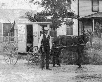 Today in North Carolina history (1896): rural free delivery mail service starts in Rowan County.
