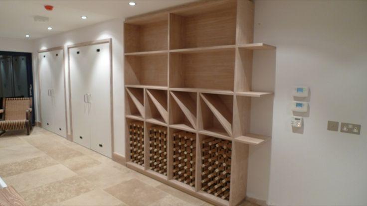 Oak veneered plywood wine rack