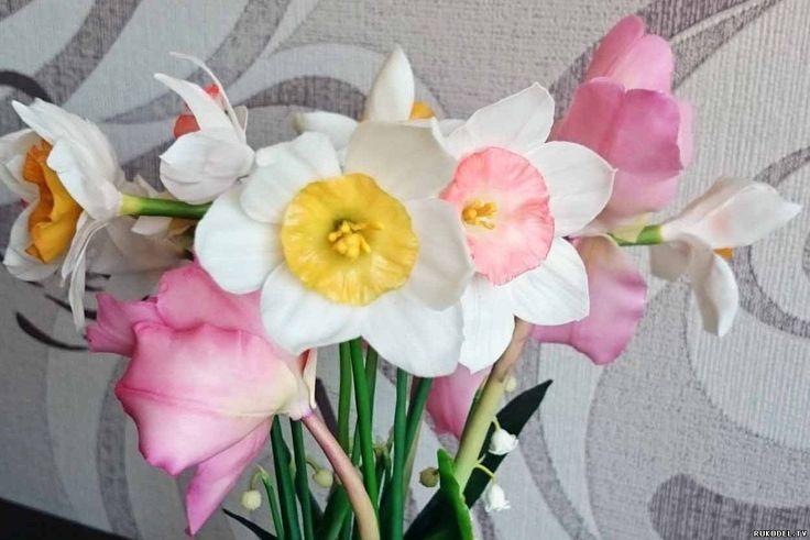 """Мастер класс цветок """"Нарцисс"""" из полимерной глины, ручной работы - Цветы из полимерной глины - Полимерная глина - Каталог статей - Рукодел.TV"""