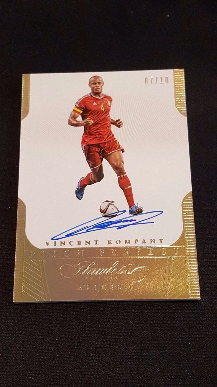 Soccer Cards 183444: 2016 Flawless Soccer Vincent Kompany Gold Pitch Perfect Auto 07 10 Belgium -> BUY IT NOW ONLY: $49.99 on eBay!