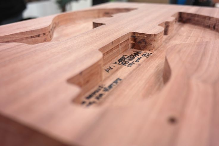 Bass building.  PJ Semihollow body bass of mahogany.