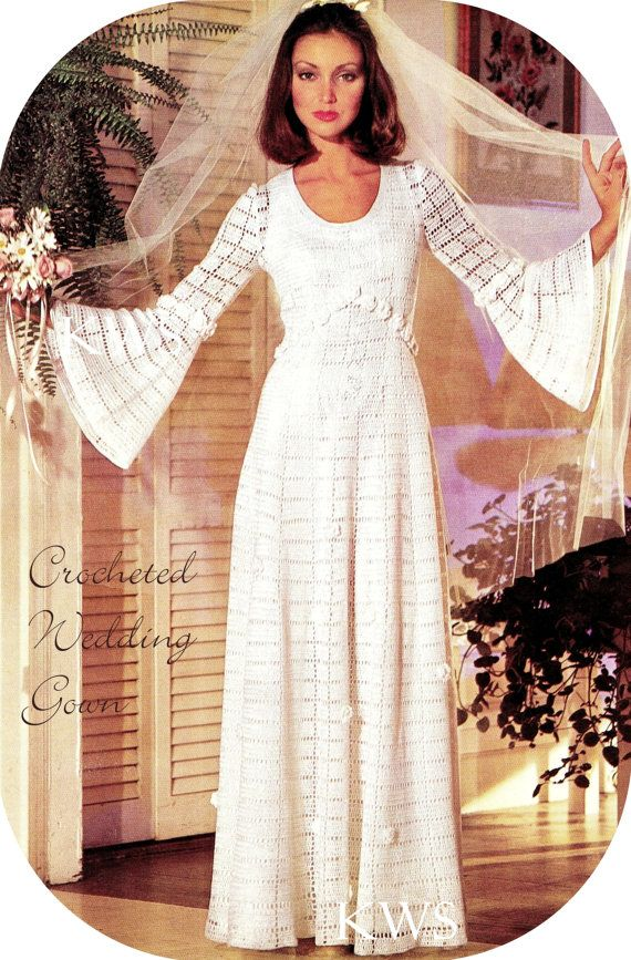 1000 ideas about crochet wedding dresses on pinterest for Crochet wedding dress pattern